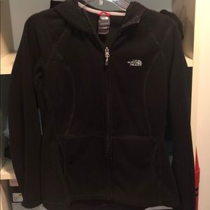 North Face Black Zip-Up Hooded Jacket SIZE M